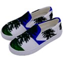 Flag of Cascadia Kids  Canvas Slip Ons View2