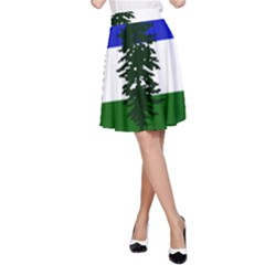 Flag Of Cascadia A Line Skirt by abbeyz71