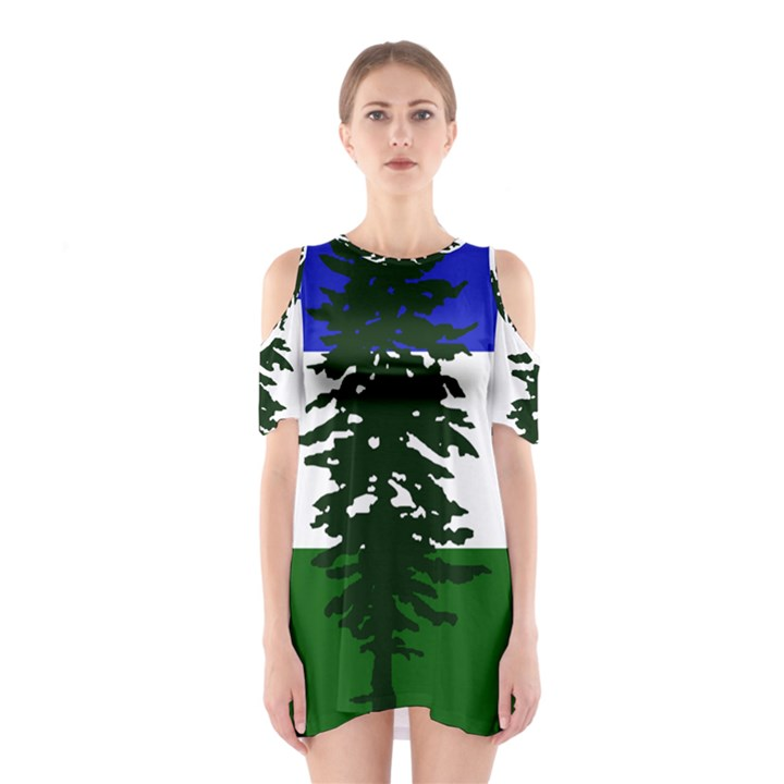 Flag of Cascadia Shoulder Cutout One Piece