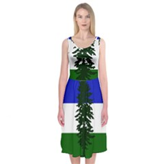 Flag Of Cascadia Midi Sleeveless Dress