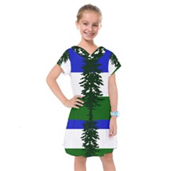 Flag Of Cascadia Kids  Drop Waist Dress by abbeyz71