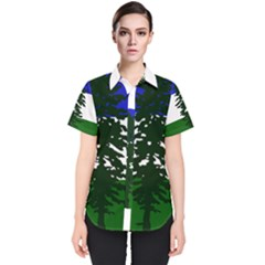 Flag Of Cascadia Women s Short Sleeve Shirt by abbeyz71