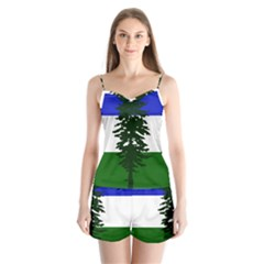 Flag Of Cascadia Satin Pajamas Set