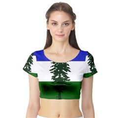 Flag Of Cascadia Short Sleeve Crop Top by abbeyz71
