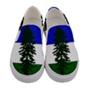 Flag of Cascadia Women s Canvas Slip Ons View1
