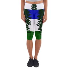 Flag Of Cascadia Capri Yoga Leggings