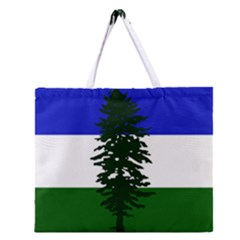 Flag Of Cascadia Zipper Large Tote Bag by abbeyz71