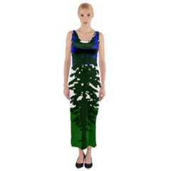 Flag Of Cascadia Fitted Maxi Dress by abbeyz71