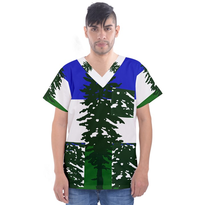 Flag of Cascadia Men s V-Neck Scrub Top