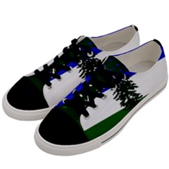 Flag Of Cascadia Men s Low Top Canvas Sneakers by abbeyz71