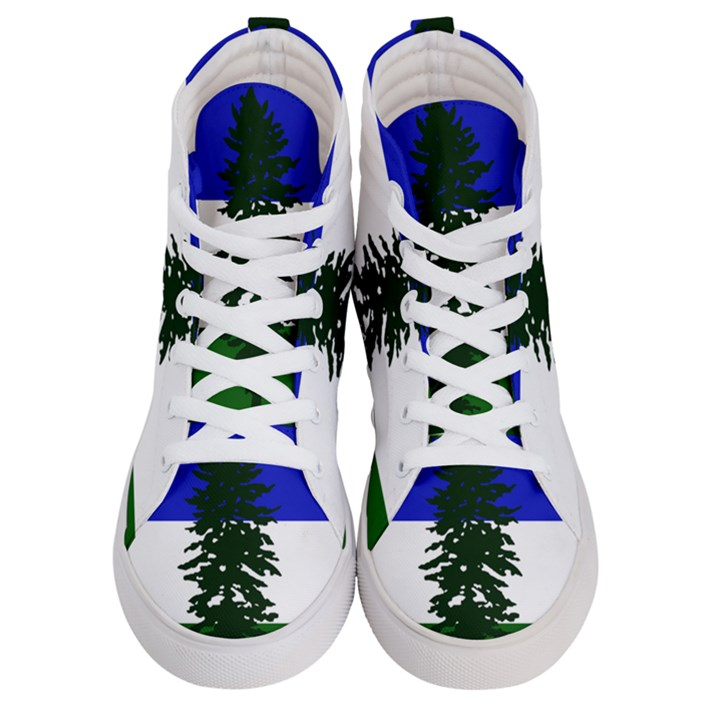 Flag of Cascadia Men s Hi-Top Skate Sneakers