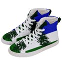 Flag of Cascadia Men s Hi-Top Skate Sneakers View2