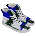 Flag of Cascadia Men s Hi-Top Skate Sneakers View3
