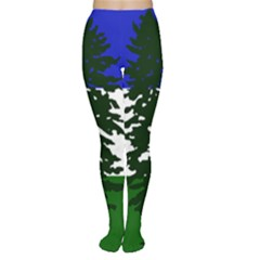 Flag Of Cascadia Women s Tights by abbeyz71