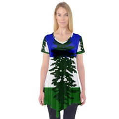 Flag Of Cascadia Short Sleeve Tunic  by abbeyz71