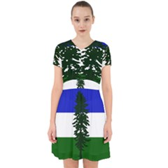 Flag Of Cascadia Adorable In Chiffon Dress by abbeyz71