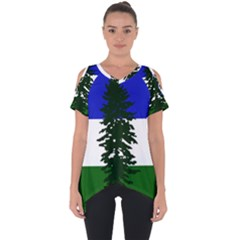 Flag Of Cascadia Cut Out Side Drop Tee by abbeyz71