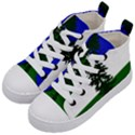 Flag of Cascadia Kid s Mid-Top Canvas Sneakers View2