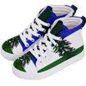 Flag of Cascadia Kid s Hi-Top Skate Sneakers View2