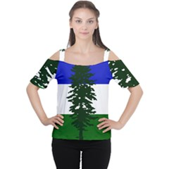 Flag Of Cascadia Cutout Shoulder Tee by abbeyz71