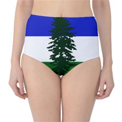 Flag Of Cascadia High Waist Bikini Bottoms
