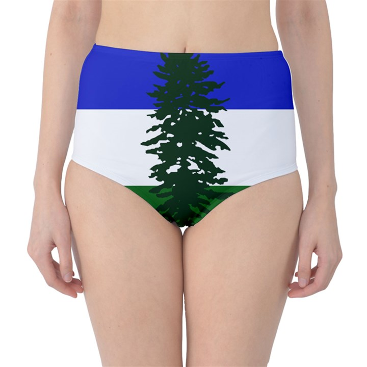 Flag of Cascadia High-Waist Bikini Bottoms