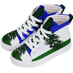 Flag Of Cascadia Kid s Hi Top Skate Sneakers by abbeyz71