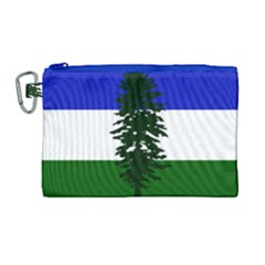 Flag Of Cascadia Canvas Cosmetic Bag (large) by abbeyz71