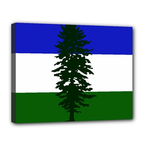 Flag 0f Cascadia Canvas 14  X 11  by abbeyz71