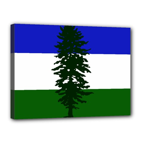 Flag 0f Cascadia Canvas 16  X 12  by abbeyz71