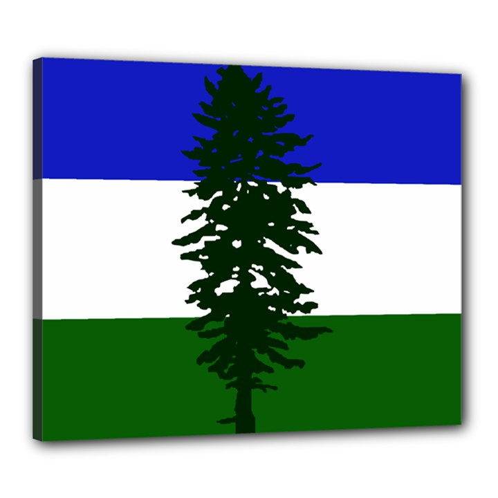 Flag 0f Cascadia Canvas 24  x 20