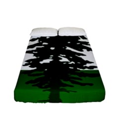 Flag 0f Cascadia Fitted Sheet (full/ Double Size) by abbeyz71