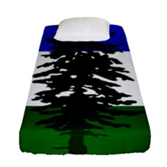 Flag 0f Cascadia Fitted Sheet (single Size) by abbeyz71
