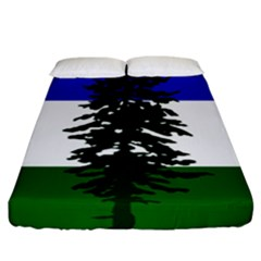 Flag 0f Cascadia Fitted Sheet (california King Size) by abbeyz71