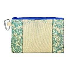 Art Nouveau Green Canvas Cosmetic Bag (large) by 8fugoso