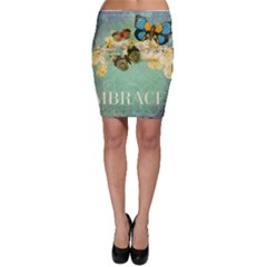 Embrace Shabby Chic Collage Bodycon Skirt by 8fugoso
