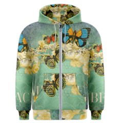 Embrace Shabby Chic Collage Men s Zipper Hoodie by 8fugoso