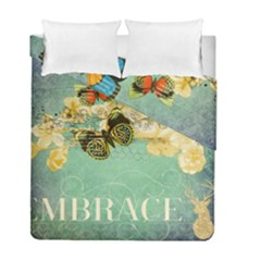 Embrace Shabby Chic Collage Duvet Cover Double Side (full/ Double Size) by 8fugoso