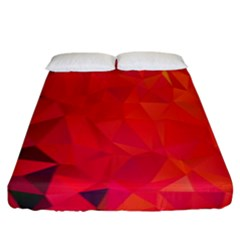 Triangle Geometric Mosaic Pattern Fitted Sheet (king Size) by Nexatart