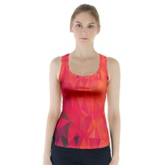 Triangle Geometric Mosaic Pattern Racer Back Sports Top