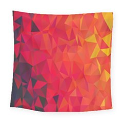 Triangle Geometric Mosaic Pattern Square Tapestry (large) by Nexatart