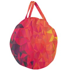 Triangle Geometric Mosaic Pattern Giant Round Zipper Tote
