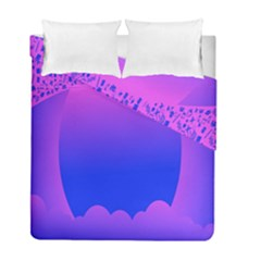 Abstract Bright Color Duvet Cover Double Side (full/ Double Size)