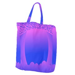Abstract Bright Color Giant Grocery Zipper Tote