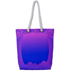 Abstract Bright Color Full Print Rope Handle Tote (small) by Nexatart