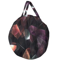 Crystals Background Design Luxury Giant Round Zipper Tote