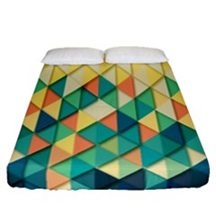 Background Geometric Triangle Fitted Sheet (queen Size)