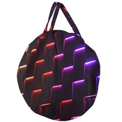 Mode Background Abstract Texture Giant Round Zipper Tote