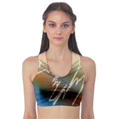 Pop Art Edit Artistic Wallpaper Sports Bra