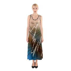 Pop Art Edit Artistic Wallpaper Sleeveless Maxi Dress